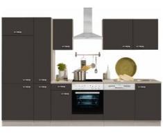 OPTIFIT Küchenzeile Faro, ohne E-Geräte, Breite 300 cm grau Küchenzeilen Geräte -blöcke Küchenmöbel Arbeitsmöbel-Sets