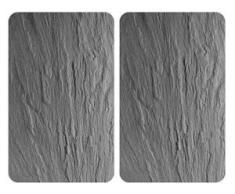 WENKO Herdblende-/Abdeckplatte Schiefer, Glas, (Set, 2-tlg.) schwarz Zubehör für Herde Kochfelder Haushaltsgeräte Herdabdeckplatten