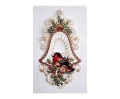 Stickereien Plauen Fensterbild Vogel in Glocke (1 Stück) bunt Fensterdekoration Deko Wohnaccessoires Dekohänger