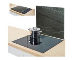 Zeller Present Herdblende-/Abdeckplatte Schiefer, Glas, (1-tlg.) schwarz Zubehör für Herde Kochfelder Haushaltsgeräte Herdabdeckplatten