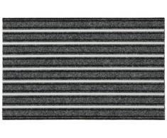 Fußmatte, Alustar, HANSE Home, rechteckig, Höhe 13 mm, maschinell getuftet grau Fußmatten gemustert Teppiche