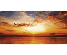 Home affaire Leinwandbild Songchai W: Sonnenuntergang am Strand mit Himmel orange Leinwandbilder Bilder Bilderrahmen Wohnaccessoires