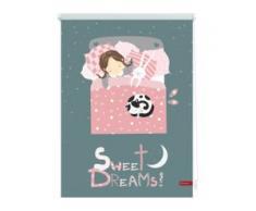Seitenzugrollo Klemmfix Digital Sweet Dreams, LICHTBLICK, verdunkelnd, ohne Bohren, freihängend grau Kinder Kinderzimmer-Rollos Rollos Jalousien Rollo
