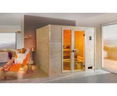 Weka Massivholzsauna Valida Plus Sparset mit moderner Glastür und Fenster