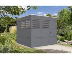 SKAN HOLZ Gartenhaus Brisbane Größe 3, 253 x 253 cm, schiefergrau