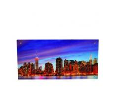 Glasbild T115, Wandbild Poster Motiv, 50x100cm ~ New York
