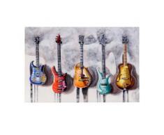 Ölgemälde Gitarren, 100% handgemaltes Wandbild 3D-Bild Gemälde XL, 120x80cm