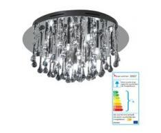Deckenleuchte HW125, Pendelleuchte Hängeleuchte Glasbehang, chrom,150W EEK C