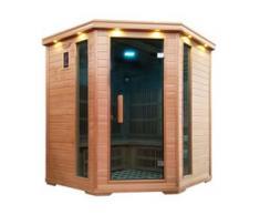 Infrarotkabine HWC-D50, Infrarotsauna Wärmekabine, Musik LED Sicherheitsglas Sauerstoff 5 Personen, Karbonheizung