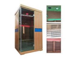 Infrarotkabine HWC-D49, Infrarotsauna Wärmekabine, Musik LED Sicherheitsglas Sauerstoff ~ 2 Personen, Karbonheizung