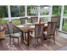 6x Esszimmerstuhl HWC-G61, Küchenstuhl Lehnstuhl Stuhl, Stoff/Textil Massiv-Holz ~ dunkles Gestell, grau