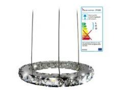 LED-Hängeleuchte HW152, Hängelampe Deckenleuchte Pendelleuchte, Kristallglas 8W EEK A
