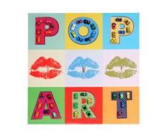 Leinwandbild Pop Art + Autos, Wandbild Gemälde 3D-Bild XL, 60x60cm
