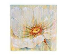 Ölgemälde Weiße Blume, 100% handgemaltes Wandbild Gemälde XL, 100x100cm