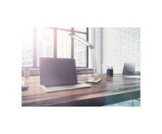 Fischer & Honsel LED-Schreibtischleuchte Geri I Modern Nickel Eisen Dimmbar 1-flammig mit Touch-Schalter 12x38x36 cm (BxHxT)
