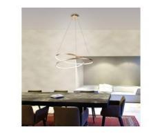Paul Neuhaus LED-Pendelleuchte Roman Circle Stahl Gold Glamour Dimmbar Ø 55 cm 1-flammig inkl. Leuchtmittel