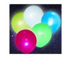 5x LED Luftballons 30cm heliumgeeignet Feier Party Dekoration Bunt BWI
