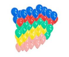 50 Luftballons 22cm heliumgeeignet Ballon Feier Party Dekoration Farbe bunt BWI
