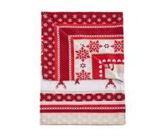 Tagesdecke mit weihnachtlichem Druck rot bonprix