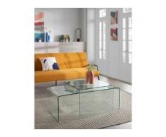 Fredriks Couchtisch Drap Glas Transparent Quadratisch Modern 60x45x60 cm (BxHxT)