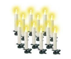Kabellose Flacker-Kerzen 12-teilig mit Fernbedienung