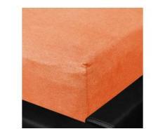 Formesse Jersey Spannbetttuch Bella Sephina 140x200 cm - 160x220 cm, mango, orange