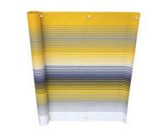 Balkonbespannung in verschiedenen Farben, Größe 075 (Höhe 75 cm), Gelb-Grau