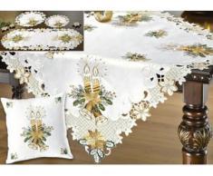 Tisch- und Raumdekoration mit Kerzen- und Glocken-Motive, Größe 101 (Läufer oval, 35x 50 cm), Sekt