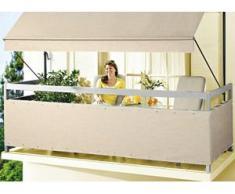 """Balkonbespannung """"Style"""" in verschiedenen Farben, Größe 075 (Höhe ca. 75 cm), Taupe"""