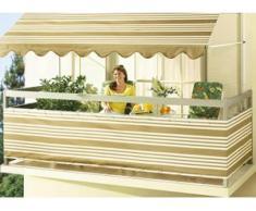 Balkonbespannung in verschiedenen Farben, Größe 075 (Höhe ca. 75 cm), Beige