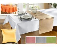 Tisch- und Raumdekoration in verschiedenen Farben, Größe 150 (Läufer, 40x150 cm), Cappuccino