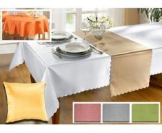 Tisch- und Raumdekoration in verschiedenen Farben, Größe 150 (Läufer, 40x150 cm), Terra