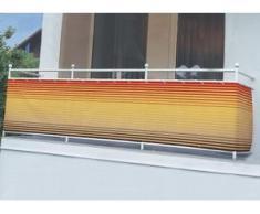 Balkonbespannung in verschiedenen Farben, Größe 075 (Höhe 75 cm), Braun-Orange
