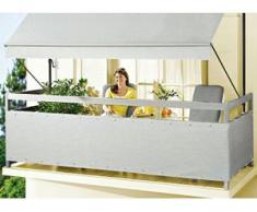 """Balkonbespannung """"Style"""" in verschiedenen Farben, Größe 075 (Höhe ca. 75 cm), Granit"""