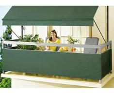 """Balkonbespannung """"Style"""" in verschiedenen Farben, Größe 075 (Höhe ca. 75 cm), Grün"""