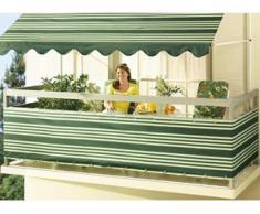 Balkonbespannung in verschiedenen Farben, Größe 075 (Höhe ca. 75 cm), Grün-Weiss