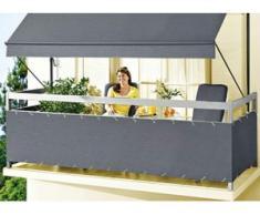 """Balkonbespannung """"Style"""" in verschiedenen Farben, Größe 075 (Höhe ca. 75 cm), Anthrazit"""