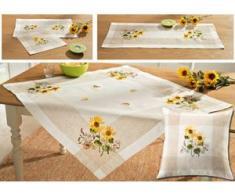 Tisch- und Raumdekoration mit Sonnenblumen-Motiven, Größe 101 (Läufer, 35x 50 cm), Beige