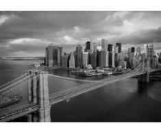 papermoon Vlies- Fototapete Digitaldruck 350 x 260 cm, Brooklyn Bridge black/wh