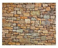 papermoon Vlies- Fototapete Digitaldruck 350 x 260 cm, Stone Wall