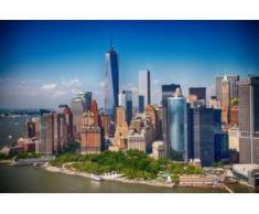 papermoon Vlies- Fototapete Digitaldruck 350 x 260 cm, Lower Manhattan Skyline