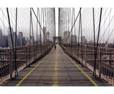 papermoon Vlies- Fototapete Digitaldruck 350 x 260 cm, Brooklyn Bridge