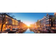 Deco-Glas Bild - Kanal Amsterdam 80 x 30 cm