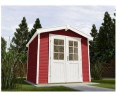 Weka Gartenhaus Kajsa Gr. 3 schwedenrot, Wandstärke 28 mm, 301 x 235 cm