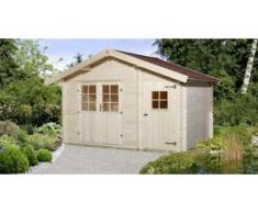 Weka Gartenhaus Vegard Gr. 2 natur, Wandstärke 28 mm, 420 x 310 cm