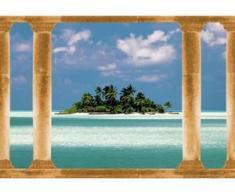 papermoon Vlies- Fototapete Digitaldruck 350 x 260 cm, Palmeninsel Malediven