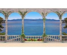 papermoon Vlies- Fototapete Digitaldruck 350 x 260 cm, Terrace with Colonnade