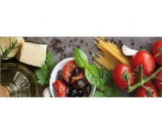 Deco-Glas Bild - Italienische Küche 80 x 30 cm