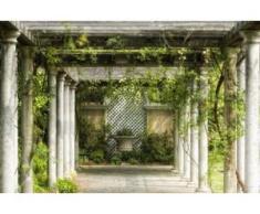papermoon Vlies- Fototapete Digitaldruck 350 x 260 cm, Walkway in Garden
