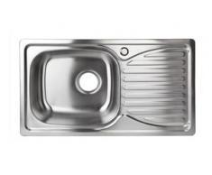 Edelstahl Einbauspüle HemeraL Küchenspüle Waschbecken links rechteckig Ablage - STABILO-SANITAER